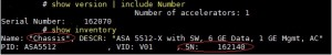 Getting all your Cisco serial numbers via CLI
