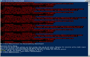Powershell scripts won't run or import because running scripts is disabled on this system
