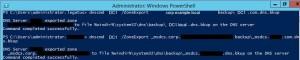 Backup DNS settings in Windows Server 2012 R2