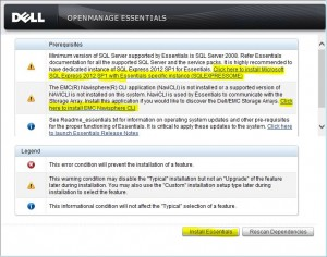 Installing Dell's OpenManage Essentials to remotely manage all Dell servers