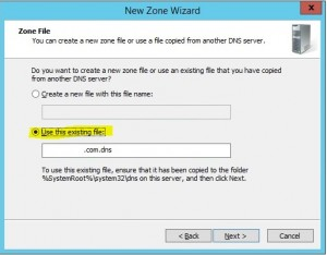 Restore DNS settings in Windows Server 2012 R2