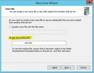 Restore DNS settings in Windows Server 2012 R2