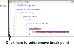 debugging breakpoints