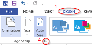 How to add margins to Visio 2013