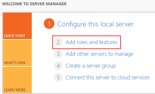 Adding roles and features in Windows Server 2012 and 2012 R2