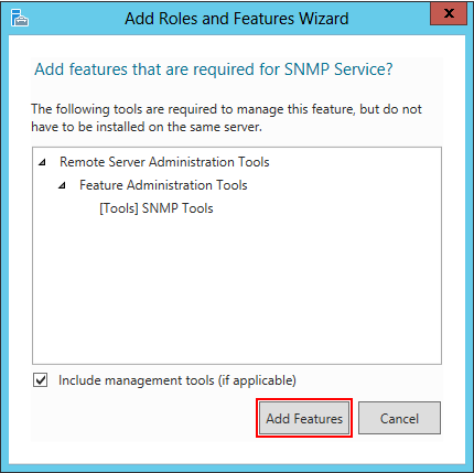 Configuring SNMP agentless monitoring on Windows Server 2012 / R2